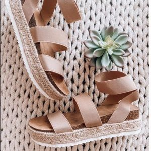 Shoes - Wedge strappy summer sandals